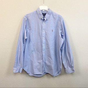 Ralph Lauren Classic Fit Striped Button Down sz XL